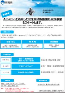 令和3年度「Amazonを活用した北米向け販路開拓支援」(新潟県✕グローバルブランド)